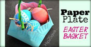 Paper Plate basket-Easter Craft & 15 Paper Plate Easter Crafts - BKB Resources
